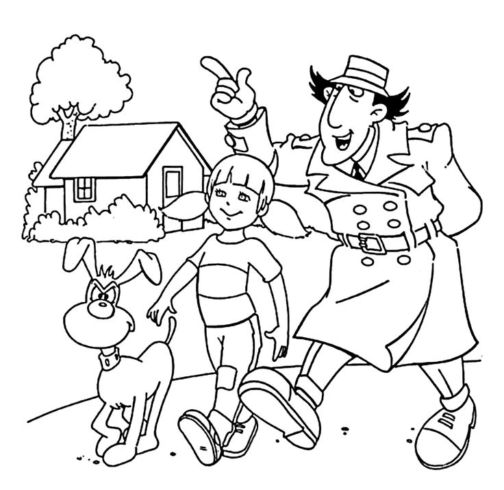 inspector gadget coloring pages - photo#1
