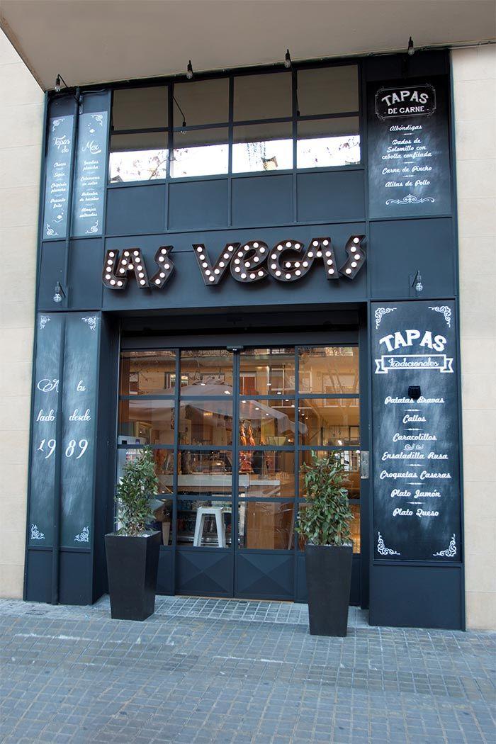 y decoracin de la fachada de bar las vegas