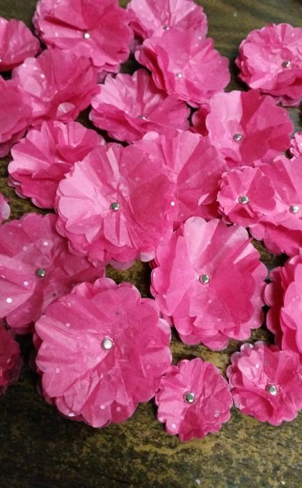 How to make easy little Tissue Paper Flowers