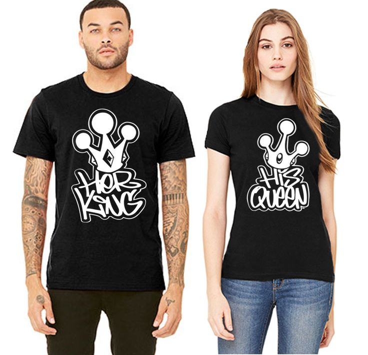 Graffiti King Queen Couple T-shirt