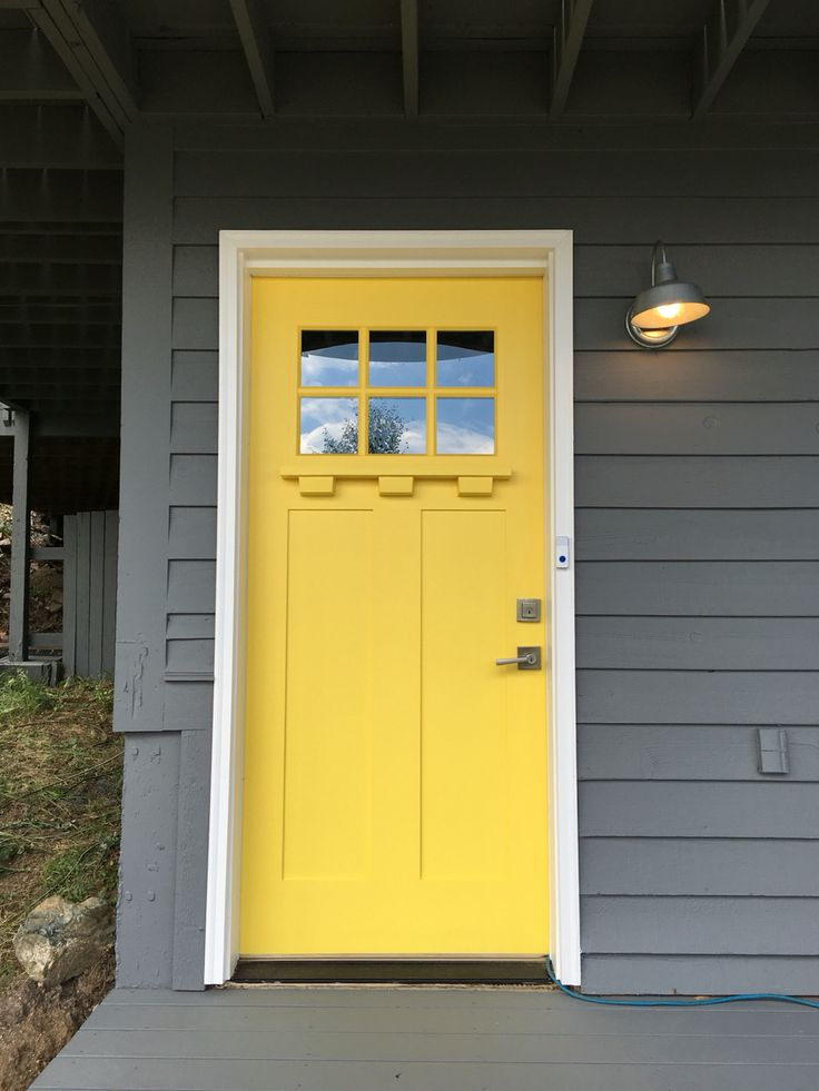 79 best images about craftsman on pinterest for Front door yellow paint