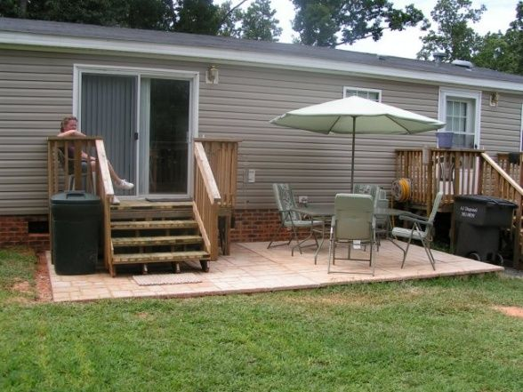 ideas diy concrete patio patios deck designs decorating ideas