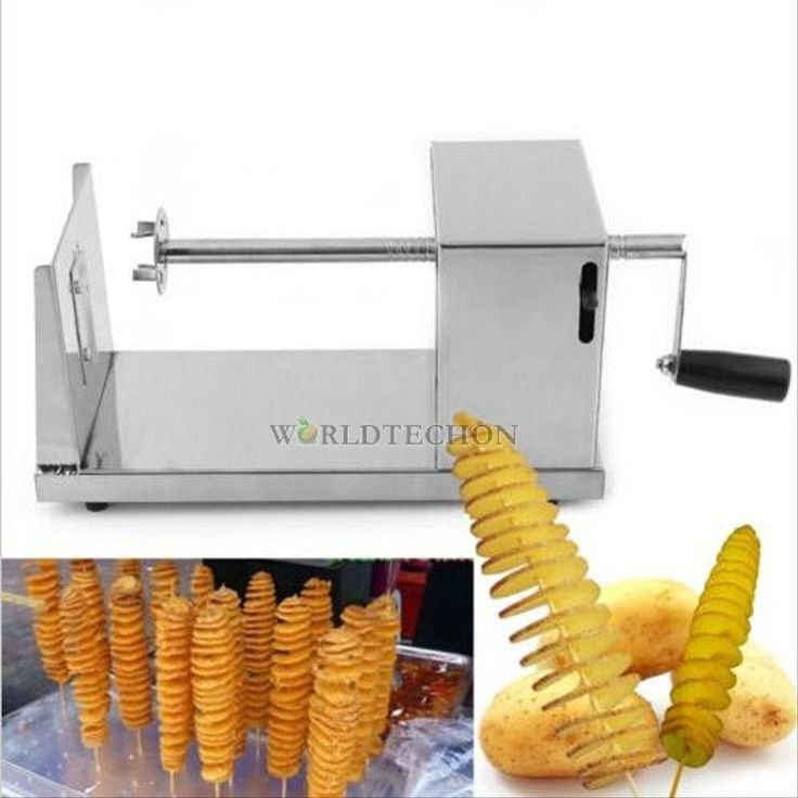 Manual Stainless Steel Twisted Potato Slicer Spiral French Fry Vegetable Cutter #Unbranded