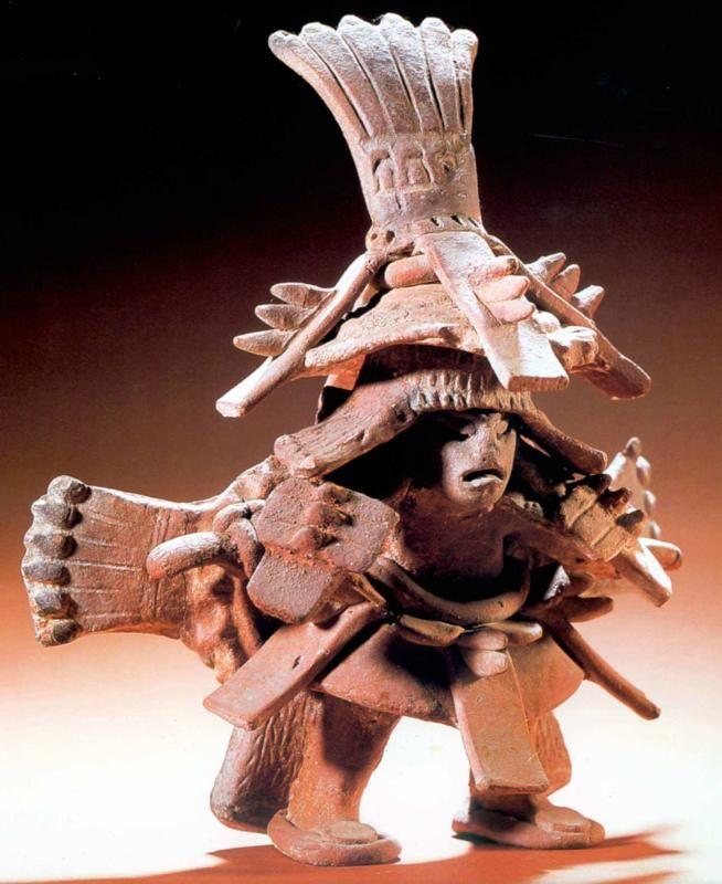 Mesoamerican Sculpture Warrior from El Zapotal, Veracruz, 600-900 AD
