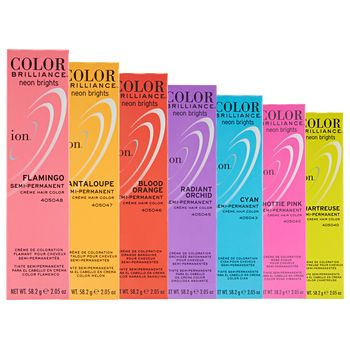 Ion Color Brilliance Semi Permanent Neon Brights Hair Color are hi-fashion hair colors designed to give vivid, boldly intense results. | ION at Home