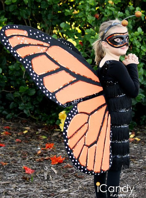 icandy handmade: (tutorial) DIY Monarch Butterfly Costume