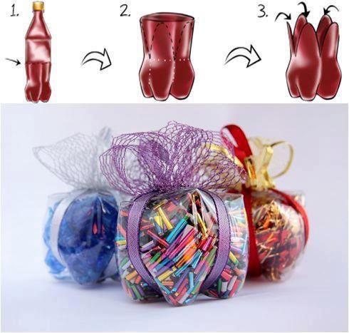 Embalagens de presente com PET