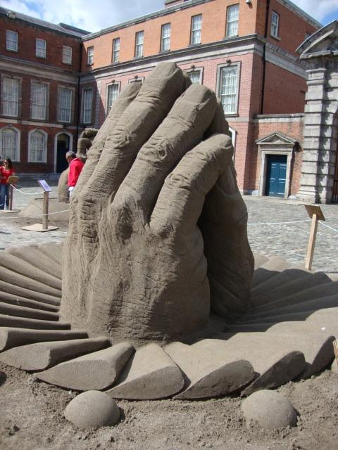 Art outside Dublin Castle
