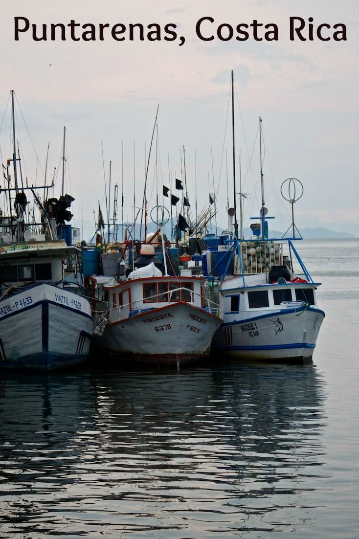 The main commercial fishing area in Puntarenas, Costa Rica. This port town is located on the Pacific side of the country.