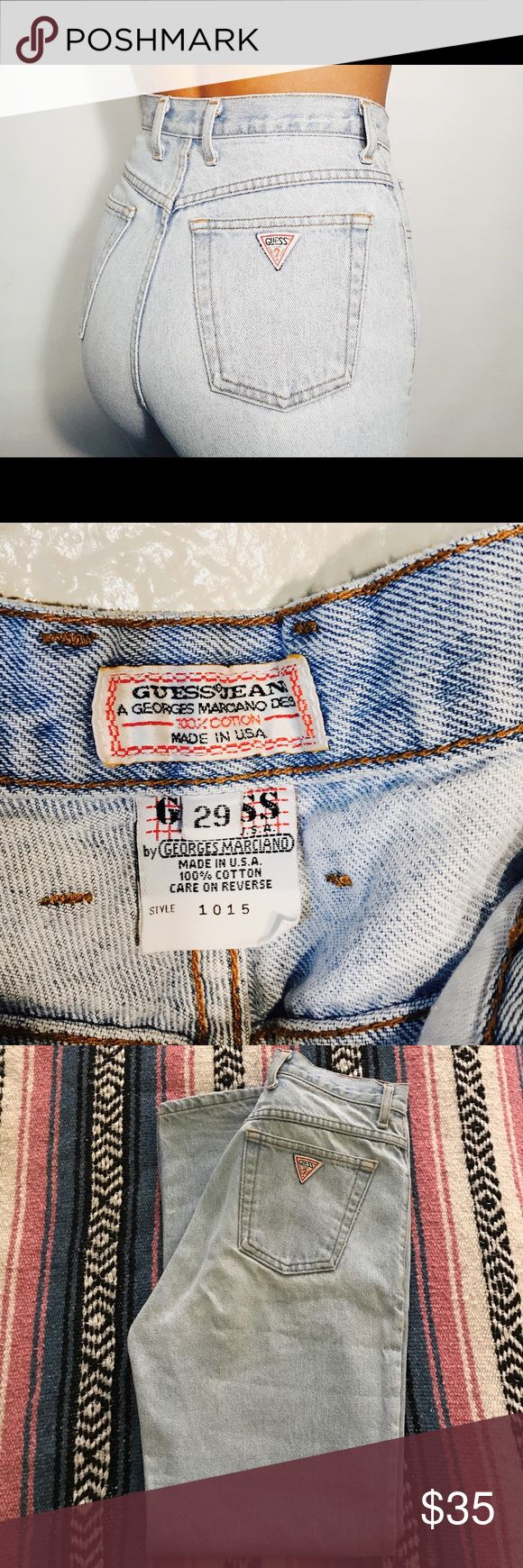 """Guess Marciano jeans Guess Marciano vintage """"mom jeans"""" ankle zipper, classic triangle logo. Guess by Marciano Jeans"""