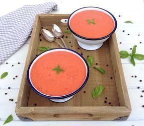 HOY COMEMOS SANO: Crema Fría de Tomate y Pimiento Rojo
