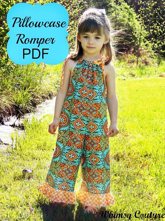 This easy to sew Pillowcase Romper PDF Sewing Pattern comes with several options! 3 leg lengths and ruffles, oh my! Download it today!