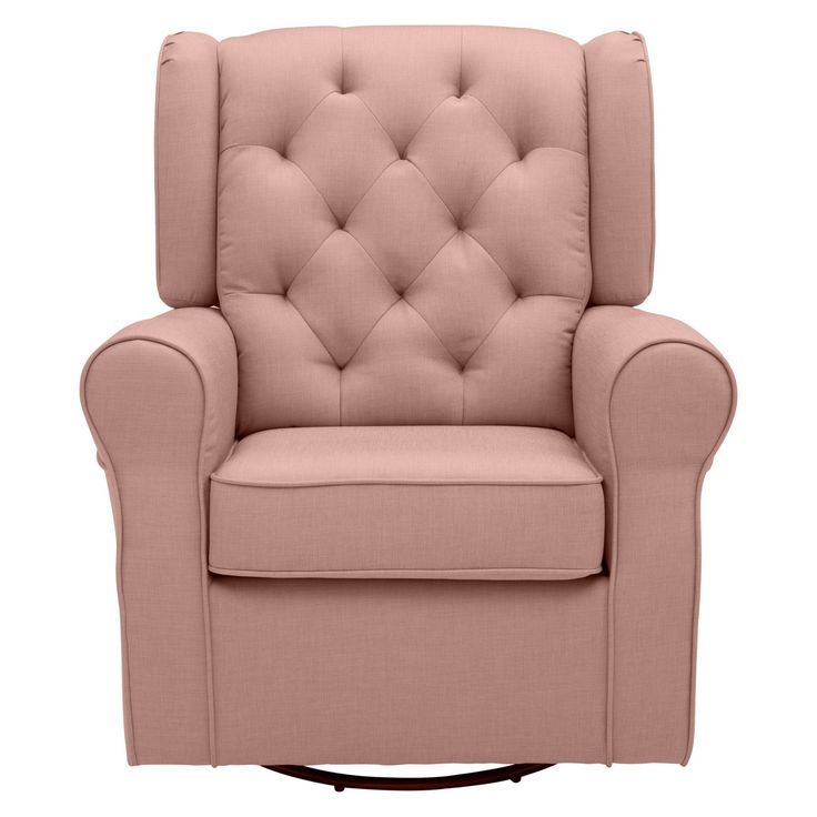 Delta Children Emma Nursery Glider Swivel Rocker Chair - Blush