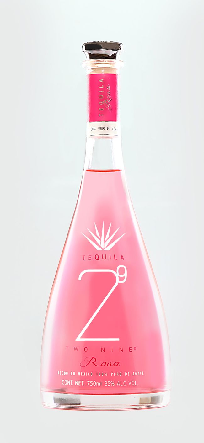 Tequila 29 Two Nine Rosa on Packaging of the World - Creative Package Design Gallery