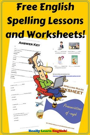 Wow! Check out these free English spelling lessons and printable worksheets for ESL / ELL students!