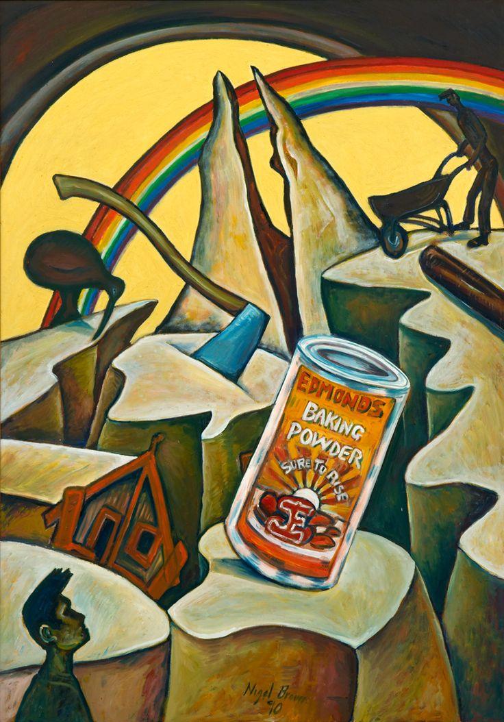 Damaged Landscape (No. Unknown) (1990) | Nigel Brown - Painter & Printmaker