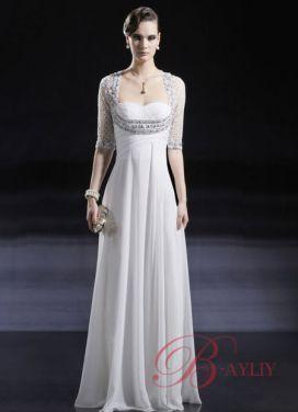Aftonklänning med ärmar Klänningar edu56660.  elegant