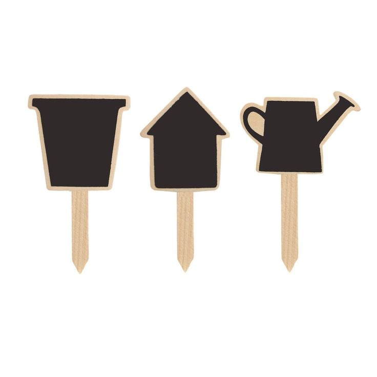 Plant Pot Marker Chalkboard Label Small Wooden Garden Novelty Markers 4.5in  #Gardens2you
