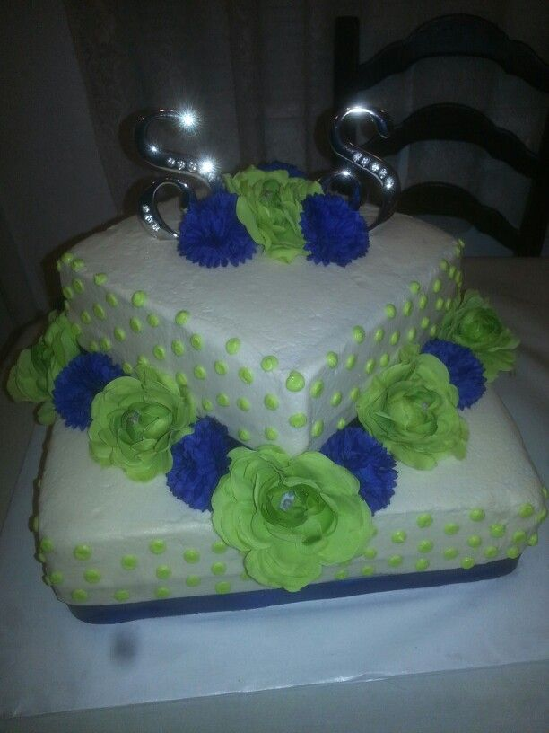 lime green and blue wedding cakes 90 best images about blue and green wedding on 16894