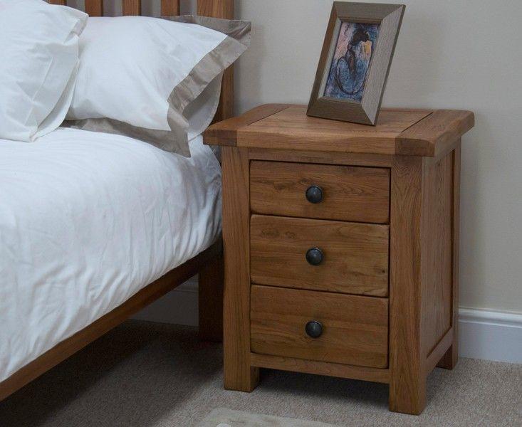 Buy the Bramley Oak 3 Drawer Bedside Chest at Oak Furniture Superstore £249