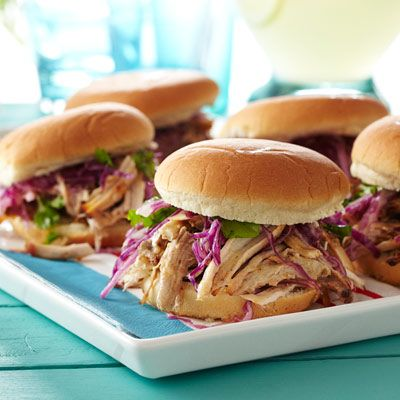 Pulled Pork with Black Pepper Vinegar: Food Recipes, Good Housekeeping, Black Peppers, Peppers Vinegar, Vinegar Recipes, Pull Pork, Parties Recipes, Pork Sandwiches, Pulled Pork