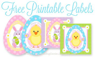 Free Printable Easter Treats Recipe and Labels: Printable Labels, Easter Tags, Easter Crafts, Free Printable Tags, Easter Marshmallows, Easter Eggs, Easter Labels, Easter Printable, Easter Treats
