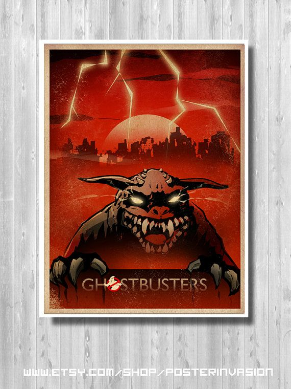 Ghostbusters Zuul print Ghostbusters Zuul Poster by PosterInvasion