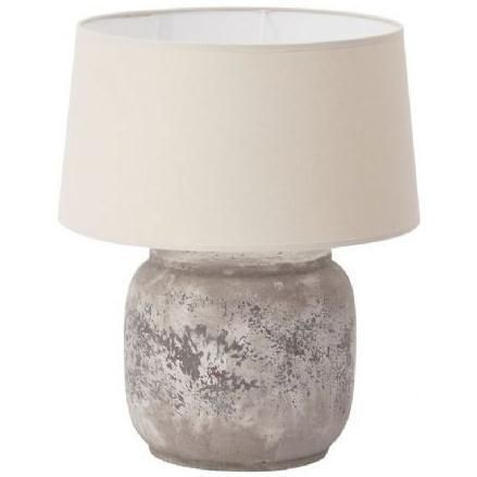 Libra Lolanthe Large Stone Table Lamp With Shade Uk   £107.89