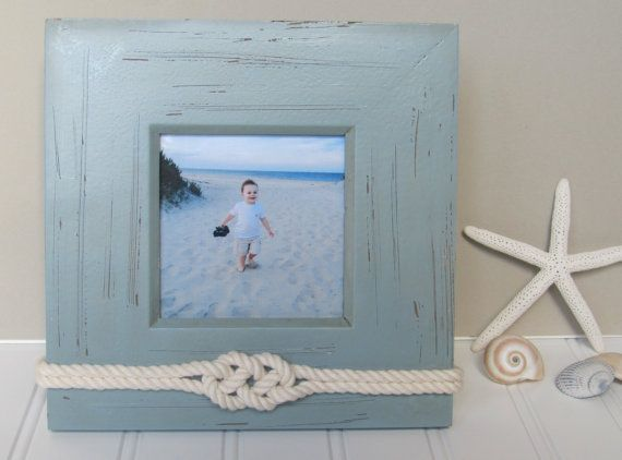 Nautical Picture Frame - 4x4 - Sailors Knot - Rope Decor ...