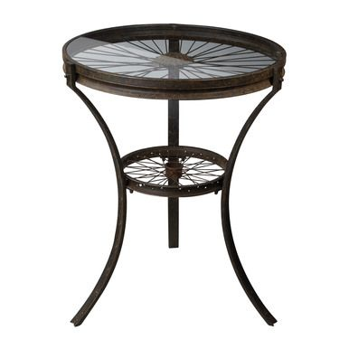 Sterling Industries Railroad Industrial Style Side Table