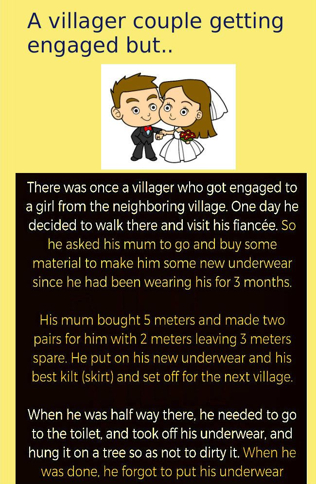 a villager couple getting engaged but couples jokes funny