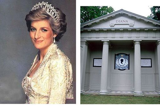 Princess Diana Grave   Diana Princess Of Wales Death Photos of Celebrities Famous people of ...