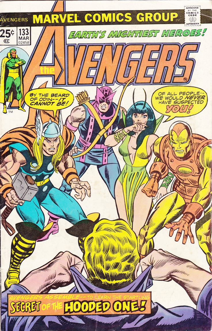 32 best comic studies images on pinterest comic books comics and comic the avengers 133 marvel comics vintage late silver age 1975 iron man hawkeye thor scarlet witch feature cover fandeluxe Gallery