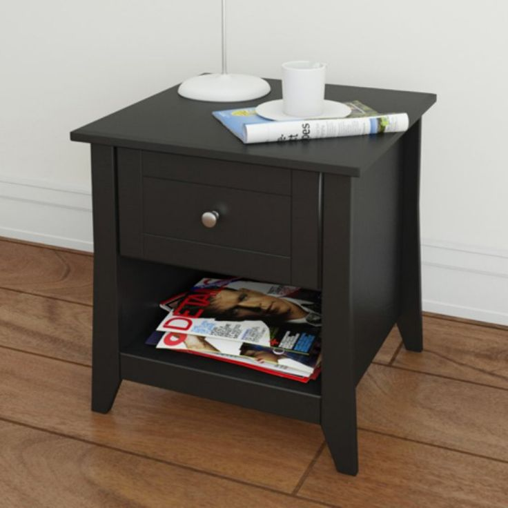 Megalak Finition Tuxedo Square Black End Table - 200806