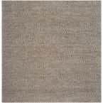 Natural Fiber Grey 8 ft. x 8 ft. Square Area Rug, Gray