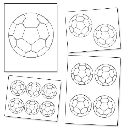 It is a photo of Dynamite Printable Soccer Ball Template