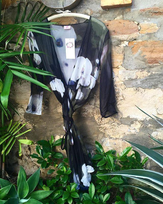 Love this new print in silk chiffon ... In store now #silk #wrapdress #autumn #winter