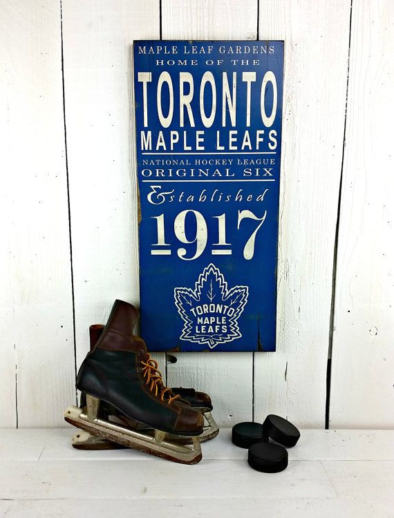 2 SIZES Toronto Maple Leafs Hockey Original 6 by DollickDesigns