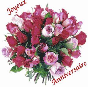 """""""Joyeux Anniversaire"""" - Bouquet de roses..."""