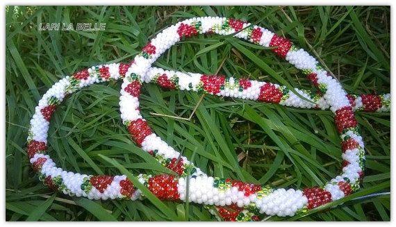 Floral natural twisted elegant stylish long seed от LariLaBelle