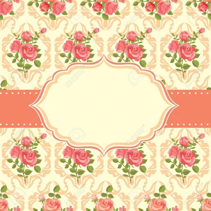 Resultado de imagen para fondos florales vintage rosa
