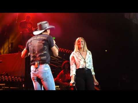 Tim McGraw and daughter Gracie Duet Nashville Bridgestone 8-15-15