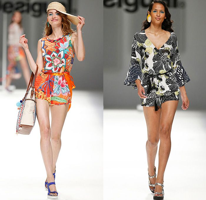 Desigual 2016 Spring Summer Womens Runway Catwalk Looks