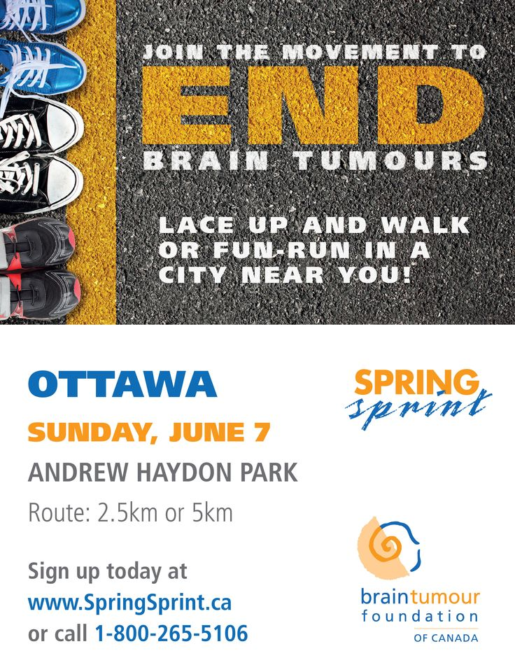 Hello Ottawa! On Sunday June 7th, join the movement to end brain tumours! http://www.springsprint.ca/site/TR?fr_id=1213&pg=entry
