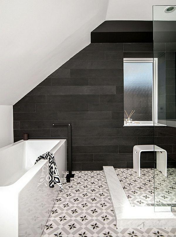 Badezimmer Ideen In Schwarz Weiss 45 Inspirierende Beispiele Badezimmer Fliesen Badezimmer Innenausstattung Badezimmer Renovieren
