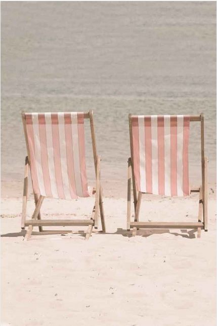 Pretty in Pink ⚓ Cabana Stripe Beach Chairs @Jeans Views/Etsy