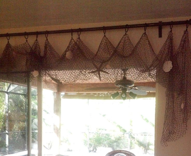Easy Fishing Net Curtains Bonniejones128 Beach Decor