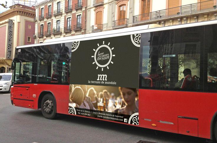 'Here comes the sun', Campaña de Publicidad exterior para Restobar Mandala