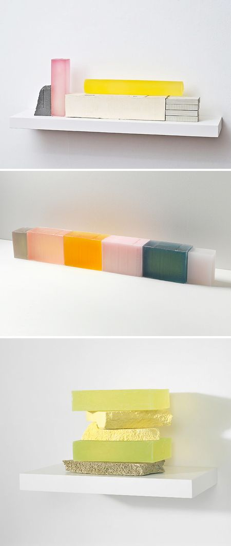 Rachel Whiteread.  Makes casts out of such things as resin, concrete, plaster etc.