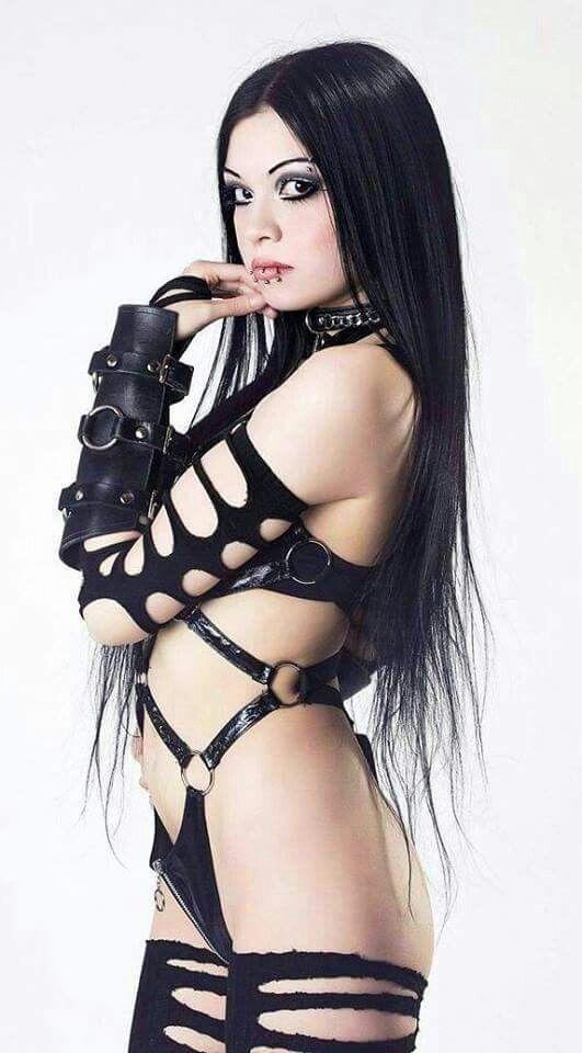 Goth babe naked 11